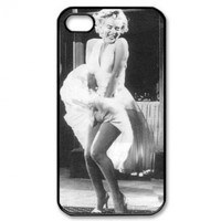 Marilyn Monroe Carrying Case for iPhone 4 4s, Monroe with white dress on
