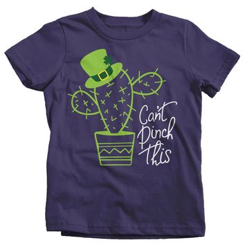 Kids Funny Can't Pinch This T-Shirt St. Patrick's Day Shirts Graphic Tee Cactus Tshirt Hipster Toddler