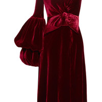 Johanna Ortiz - Sabina one-shoulder velvet dress