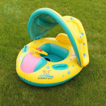 Summer Kids Swimming Ring Inflatable Swan Swim Float Water Fun Pool Toys Swim Ring Seat Boat Water Sport  Swimming Circl