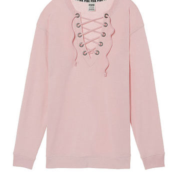 Lace-Up Campus Crew - PINK - Victoria's Secret