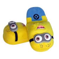 Giggly Minion Plush Slippers