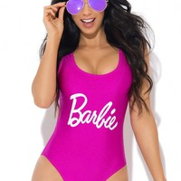 Barbie One Piece Swimsuit Purple