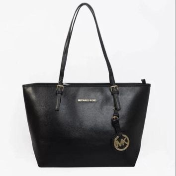 MK Women Shopping Bag Leather Tote Handbag Shoulder Bag G