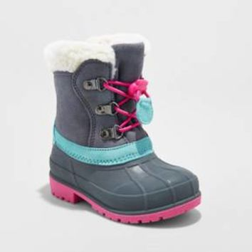 Toddler Girls' Mora Suede Bungee Winter Boots - Cat & Jack™ Gray