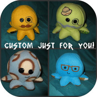 Custom Cute Little Octopus MadetoOrder by skotkincreations on Etsy