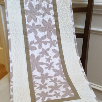 Modern table runner, quilted table runner
