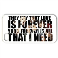 CTSLR Music & Band Series Protective Snap-on Hard Back Case Cover for iPhone 4 & 4S - 1 Pack - Sleeping with Sirens - 4