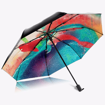Multi Color Folding Umbrella - 6 Styles