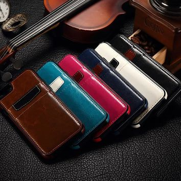 Leather Credit Card Case For iphone 7 Fashion Retro Silicone Shockproof Cover Shell For iphone 7 Plus 5.5 inch Vintage