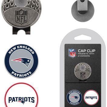 NFL New England Patriots Hat Clip & 2 Magnetic Golf Ball Markers