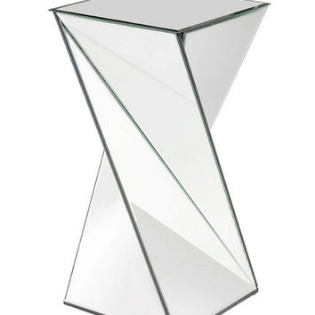 Howard Elliott Twisted Mirrored End Table  - Howard Elliott 11093