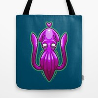 Squid Love Tote Bag by Artistic Dyslexia | Society6