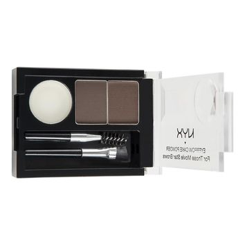 NYX - Eyebrow Cake Powder - Dark Brown/ Brown - ECP02