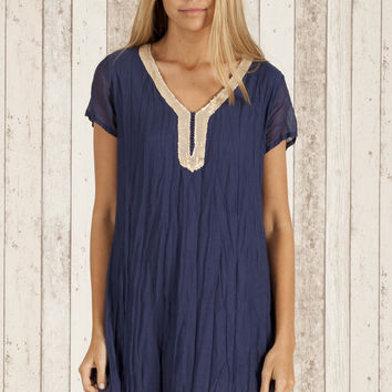 Como Dress in Navy