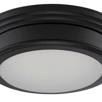 1-Light LED Flush Mount Ceiling Light in Aged Bronze Finish
