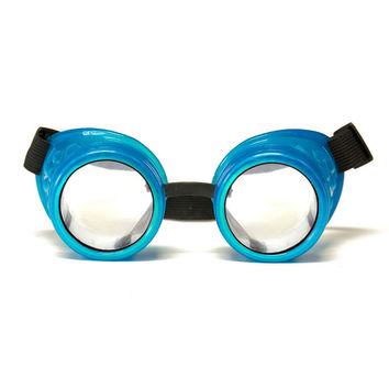 Glow Blue Diffraction Goggles