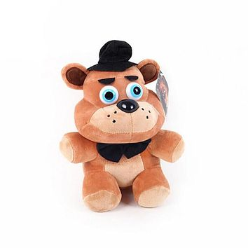 15 CM Cute Anime Five Night At Freddy  World Freddy Bear Foxy Bonnie Plush Toys Stuffed Freddy Toys For Children Gifts
