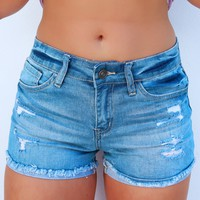 Easy As Can Be Shorts: Denim
