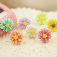 10 Pcs Lovely Sunflower Little Daisy Anti Dust Plug for 3.5mm Earphone Jack Plug