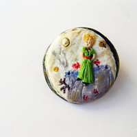 Little prince ring- polymer clay- hand sculpted little prince- statement ring- Le Pettite Prince- little prince inspired pendant- jewelry