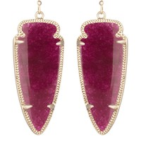 Skylar Earrings in Maroon Jade - Kendra Scott Fashion Designer Jewelry - Earrings