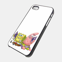 sponge bob and patrick iPhone 4 / 4S, iPhone 5 case, Samsung S2 / S3 Case - Black / White
