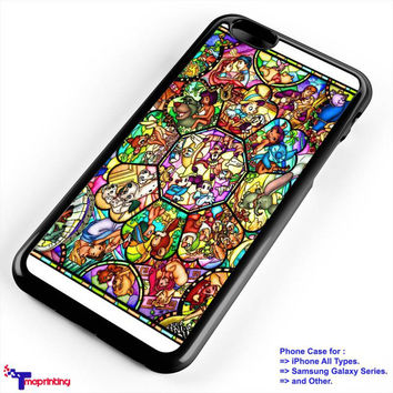 Character Disney Stained Glass Case - Personalized iPhone 7 Case, iPhone 6/6S Plus, 5 5S SE, 7S Plus, Samsung Galaxy S5 S6 S7 S8 Case, and Other
