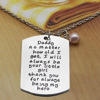 2017 Factory New Product Letter Necklaces for Daddy Father's Day Gift Family Jewelry Big Charm Necklace Can Dropshipping YP3149