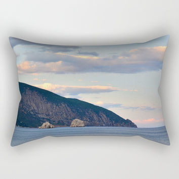 Mountain landscape Rectangular Pillow by ArtGenerations