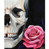 Rose & Skull Art Print by Artist Christina Ramos