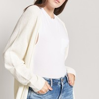 Purl-Knit Open-Front Cardigan