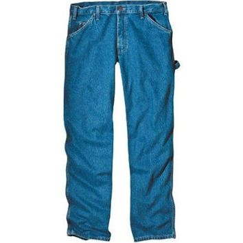 "Dickies 1993SNB3834 Relaxed Fit Carpenter Jeans, 38"" x 34"", SW Indigo Blue"