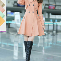 Short Trench Coat with Bow Embellishment at Back by DressStory