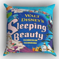 Vintage Disney Poster Sleeping Beauty X0901 Zippered Pillows  Covers 16x16, 18x18, 20x20 Inches