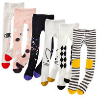 Lovely Infant Baby Kids Tights Cartoon Cute Long Stockings Toddler Girls Long Tights