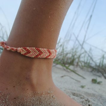 sale handmade anklet for string simple multi bracelets zig zag ankle caymancode