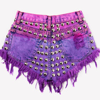 The Faye Shorts Pink/Purple Ombre from ShopWunderlust