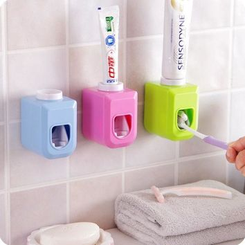 ICIK272 New Touch Automatic Auto Squeezer Toothpaste Dispenser Hands Free Squeeze out