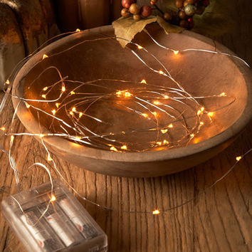 Amber Starry Lights, Set of 2