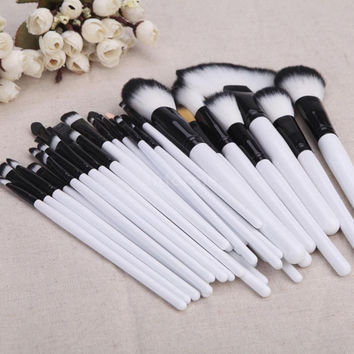 32 pcs White Black Make-up Brush Set