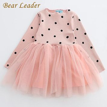 Bear Leader Girls Dress Princess Dress 2018 New Brand Girls Dress Children Clothing European and American Style Girls Dresses