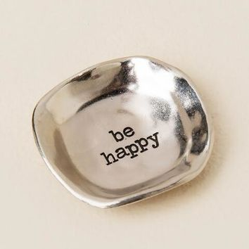 Be Happy Silver Trinket Dish