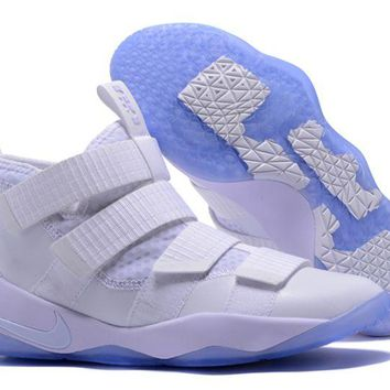 Nike Lebron Soldier 11 White Ice White/black-pure Platinum 897644-103 - Beauty Ticks