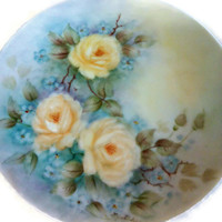 Noritake Angela Floral Painted Plate, Noritake Cook N Serve, Noritake Japan, Fine China
