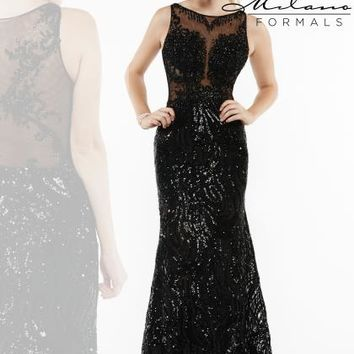 Milano Formals Black Fitted Dress E1945