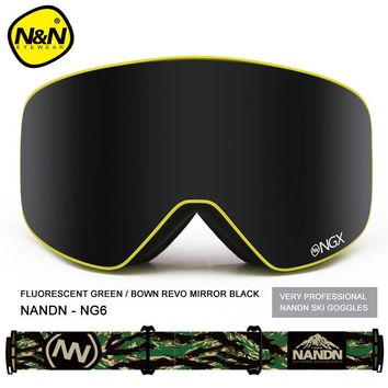 High Quality Snowboard Goggles Men Women Sports Mask Skiing Goggles Motorcycle Protection Specialty Snowmobile Ski Glasses NG6