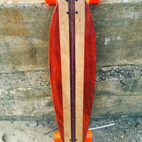 "Handmade Custom Pintail Skateboard 46""x10"" ""The Pinner"""