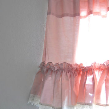 Pink Valance Bedroom Valance Window Valance Curtain Valance Little Girls Room Valance Curtain Valence Ruffle Valance Cottage Valance Free