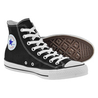 Converse All Stars black high top boots - black hi tops - converse boots UK